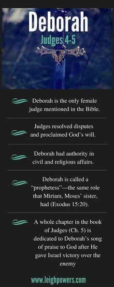 Women of the Bible: Deborah (Judges - Vacation Bible School - # Bible Study Notebook, Bible Study Tips, Scripture Study, Bible Lessons, Revelation Bible Study, Study Journal, Bible Notes, Bible Scriptures, Healing Scriptures