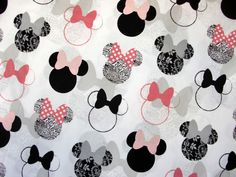 1 Meter SDLP Cotton Fabric  Minnies and Bows/Art by SmileStars, $10.50