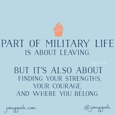 Part of #military life is about leaving. #milspouse