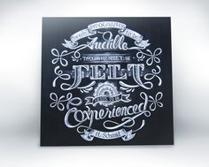 """Typography Needs to be Experienced"" by Aurelie Maron, via Behance"