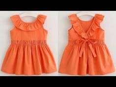DIY Ruffled Neck Baby Frock Cutting And Stitching Full Tutorial Baby Frock Pattern, Frock Patterns, Baby Girl Dress Patterns, Kids Frocks Design, Baby Frocks Designs, Baby Girl Frocks, Frocks For Girls, Girls Dresses Sewing, Toddler Girl Dresses
