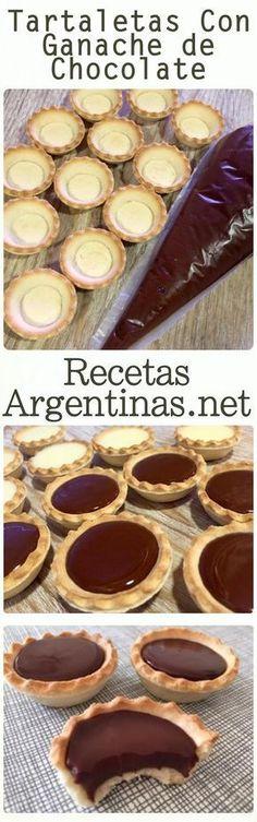 Tartlets with chocolate ganache - Pastry World Mini Cakes, Cupcake Cakes, Mini Desserts, Dessert Recipes, Comida Diy, Diy Food, Cake Cookies, Love Food, Oreo