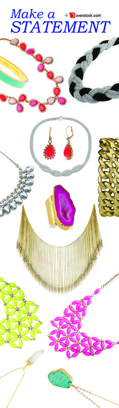 The light and breezy fashions of summer are the perfect backdrop for distinctive jewelry, such as cocktail rings, dangling earrings, and fringed necklaces. Check out these pieces and more at Overstock's Events by O.