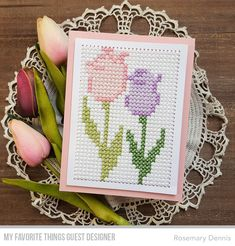 Die-namics: Cross-Stitch Rectangle Rosemary Dennis #mftstamps