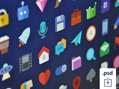 http://www.crazyleafdesign.com/blog/freebie-10-colorful-sets-flat-x-pastel-x-hipsteristic-icons/