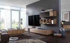 Modell NW770 – Edles Massivholz mit hochwertig, teilmatierten Mattglas-Akzenten und fließenden Übergängen zum Holz.