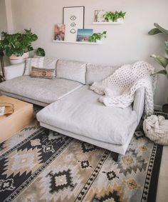 Boho chic living room inspo care of Most Comfortable Couch, Comfortable Living Rooms, Living Room Sectional, Living Room Furniture, Living Room Seating, Couches In Bedroom, U Shaped Couch Living Room, Bequemste Couch, Cozy Couch