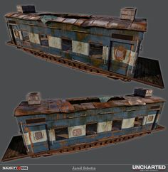 Uncharted: LL Train Cars by Jared Sobotta | Art | 3D | CGSociety