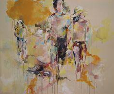 """""""Drang und Grenzen"""", Acryl auf Leinwand, 180 x 145 cm"""
