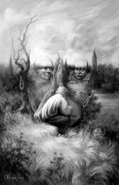 Oleg Shuplyak  Oleg Shuplyak is a talented Ukrainian artist who masters the optical illusion in his incredible oil paintings and turns his artworks into mind-blowing optical illusions. Each of his work reveals the visual illusions of two images, some far quicker than others. But all display an extraordinary level of artistry and a playful take on classic imagery.