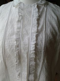 FREE POST UK Antique French fine cotton by TradeWindsVintage