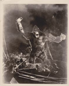 Date: 1933 Category: Movie still Subject: King Kong Original: Yes Color: B&W Size (approx.): 8x10 Photographer: Unknown Type: Type I Stamped: Film number on  front Notes: Rare & Unique movie still scene