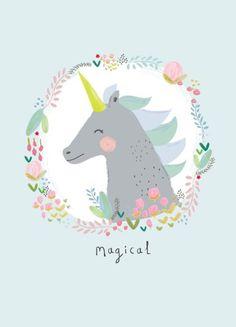 Affiche licorne - illustration - unicorn