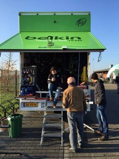 Mechanics truck for Belkin pro cycling team.
