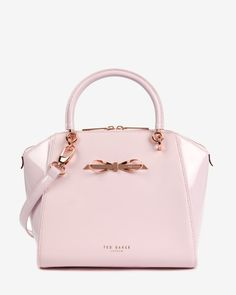 Small slim bow tote bag - Baby Pink | Bags | Ted Baker UK