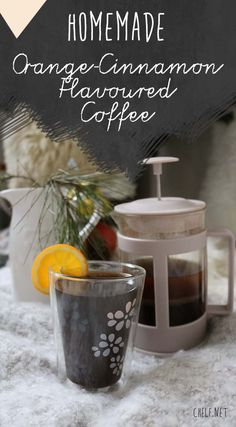 The perfect winter drink! Homemade Orange Cinnamon Flavoured Coffee Recipe on www.chelf.net Flavoured Coffee, Cinnamon Coffee, Winter Drinks, Coffee Recipes, Fine Dining, Bon Appetit, Love Food, Picnic, Christmas Tree