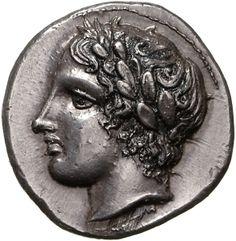 Tetradracma - argento - Olinto, Macedonia (412-410 a.C.) - testa di Apollo con serto d'alloro vs.sn. - Münzkabinett Berlin