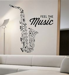 Saxophone Wall Decal Vinyl Sticker Art Decor Bedroom Design Mural school education educational sounds artist musician home decor wall decor Decoration Evenementielle, Art Decor, Home Decor, Room Wall Decor, Bedroom Decor, Music Bedroom, Wall Decor Amazon, Band Rooms, Music Studio Room