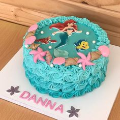 Daniela Little Mermaid Birthday Cake, Little Mermaid Cakes, Little Mermaid Parties, Birthday Cake Girls, Cupcake Icing Recipe, Cupcake Cakes, Ariel Cake, Girl Cakes, Party Cakes