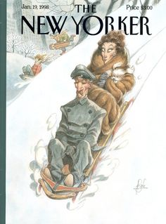 """The New Yorker - Monday, January 19, 1998 - Issue # 3783 - Vol. 73 - N° 43 - Cover """"Through the Park, James"""" by Peter de Sève"""