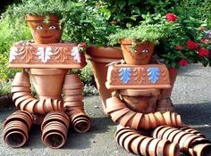 More Cute Pot People for the Garden