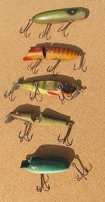 Vintage Wooden Fishing Lures (5)