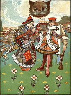 "'There was a dispute going on between the executioner, the King, and the Queen'. Illustration for ""Alice's Adventures in Wonderland"" (1907) by Charles Robinson"