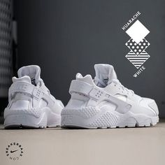 #nike #nikeair #huarache #allwhite #triplewhite #sneakerbaas #baasbovenbaas  Nike Wmns Air Huarache Run- This Huarache applies a 'triple white' colorway, making it a perfect pair to combine with almost every outfit!  Now available! | Priced at 119.95 EU | Wmns Sizes 35.5- 44.5 EU