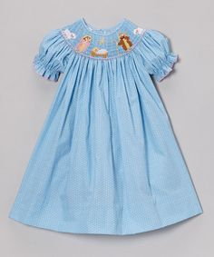 Take a look at this Light Blue Polka Dot Nativity Bishop Dress - Infant, Toddler & Girls by Petite Palace on #zulily today!