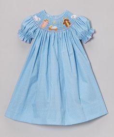 Look what I found on #zulily! Blue Polka Dot Nativity Bishop Dress - Infant, Toddler & Girls #zulilyfinds