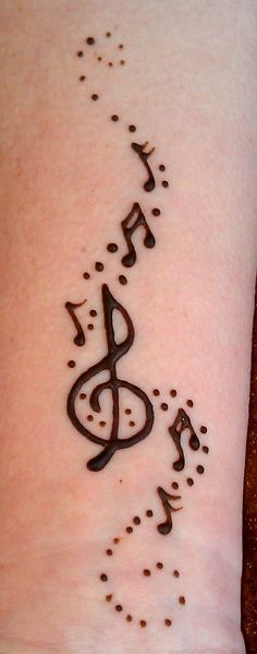 simple musical henna designs - Google Search