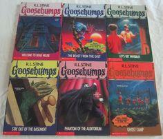 GOOSEBUMPS by R.L.Stine Lot of 6 #1,2,6,24,43,45 Paperback Scholastic