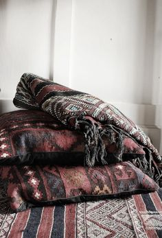 Handwoven Textile using all organic materials in Tibet