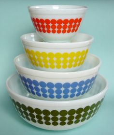 FIREKING BOWLS.....my favorite kitchen items (thanks to mom and dad) :)
