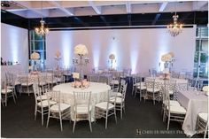 Tall Silver Vase Centerpieces - The French Bouquet - Chris Humphrey Photographer