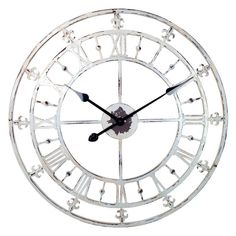 River City Clocks Tower Wall Clock with Fleur-de-lis - 24 diam. in. | from hayneedle.com