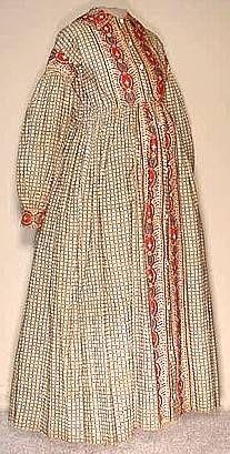 Calico Maternity Wrapper, mid 19th century
