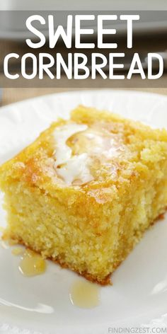 Dec 2019 - Moist cornbread that is sweet is the absolutely best! This cornbread recipe from scratch is the perfect side dish for your dinner. Dish it up with your favorite chili or soup and watch it disappear! Buttery Cornbread Recipe, Cornbread Recipe From Scratch, Southern Cornbread Recipe, Sour Cream Cornbread, Homemade Cornbread, Cornbread Muffins, Best Cornbread Recipe For Chili, Sweet Cornbread Recipe With Creamed Corn, Moist Bread Recipe