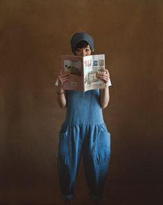 Tuile Jumper by Yokoo on Etsy, Denim Jumper, Denim Jumpsuit, Denim Overalls, All Jeans, Love Jeans, Jeans Style, Dope Fashion, Kids Fashion, Spring Fashion