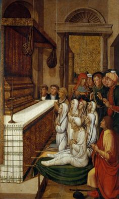 Pere Gascó - Six Resurrections before the Relics of Saint Stephen. 1529-1546