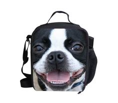 Whosepet 3D Animal Boston Terrier Thermal Insulated Lunch Bag Box Picnic Boys #BIGCAR