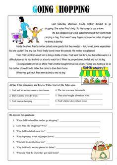 Going Shopping worksheet - Free ESL printable worksheets made by teachers