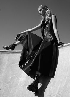 "Svieta Nemkova is skater girl gone glam in ""Off the Wall"" for Fashion Gone Rogue."