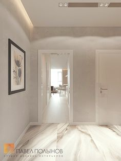 Фото: Дизайн холла - Интерьер однокомнатной квартиры в современном стиле