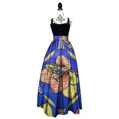 86163001cd03 2017 Fashion Women African Print Long Skirt Ankara Dashiki High Waist A  Line Maxi Long Umbrella Skirt Ladies Clothing BRW