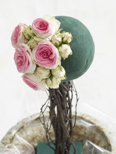 The Prettiest Pom: Make an Elegant Rose Topiary Tree : Page 02 : Decorating : Home & Garden Television