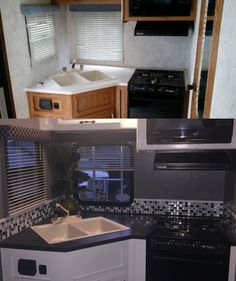 Camper Remodel Rv Makeover Motorhome Ideas For 2019 Rv Travel Trailers, Travel Trailer Remodel, Camper Trailers, Rv Trailer, Happy Campers, 5th Wheel Camper, Kombi Motorhome, Rv Homes, Tiny Homes