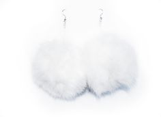 Image of Fluffy Pom-Pom Earrings