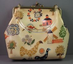 Vintage Purse with Rhinestones-however, I'd like this with a different pattern