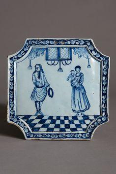 Delft plaque, ca. 1750-1760